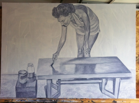 Work in Progress - Lady Painter 2