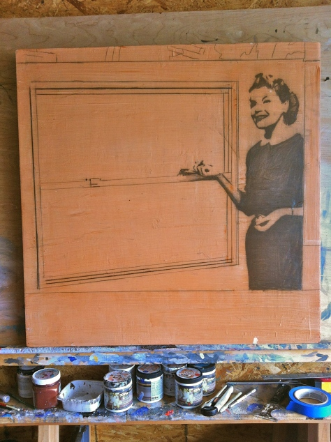 Work in Progress - This image found its way onto the canvas at 12:30.This is the first stage.