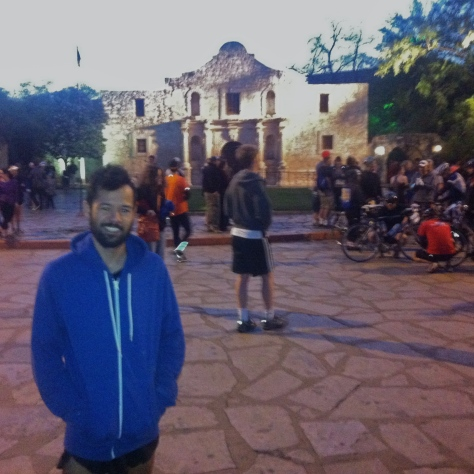 In front of the Alamo before the race.
