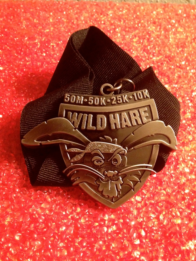 Wild Hare Finishers medal.
