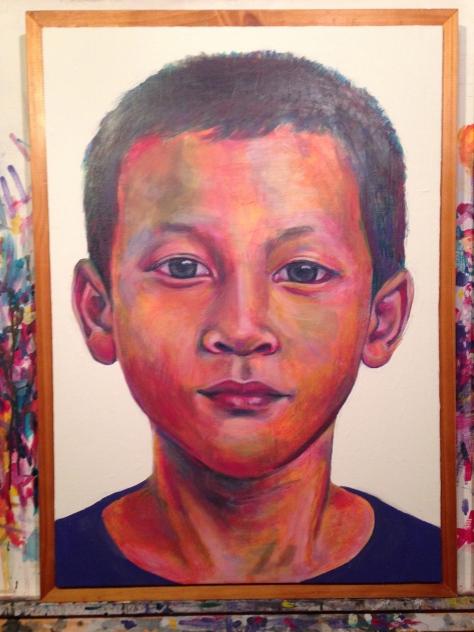 Juk. Same kid, same image as the first painting.