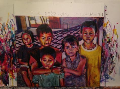 Kids in my Mom's hometown village in Thailand.