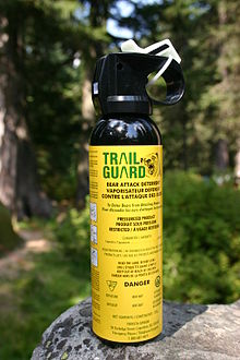 Bear spray non-lethal conflict resolver! Photo credit: Arne Nordmann via Wikipedia