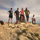 Julie, Chris, Kellie, Brian, & Lorenzo posing at the peak.